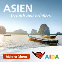 Mit AIDA nach Asien.