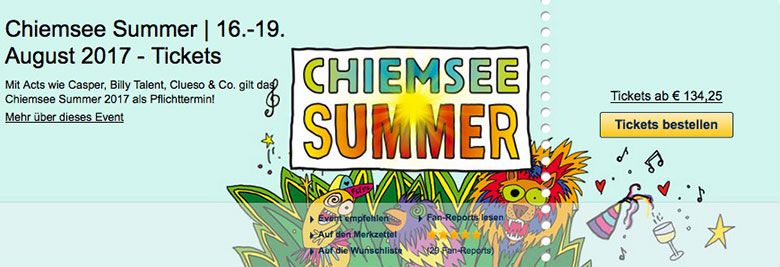 Chiemsee Summer | 16.-19. August 2017 - ...
