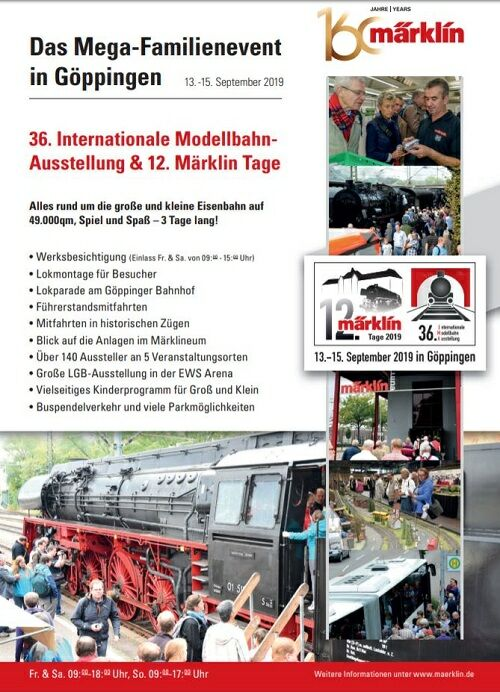36. Internationale Modellbahnausstellung & 12. Märklin T…