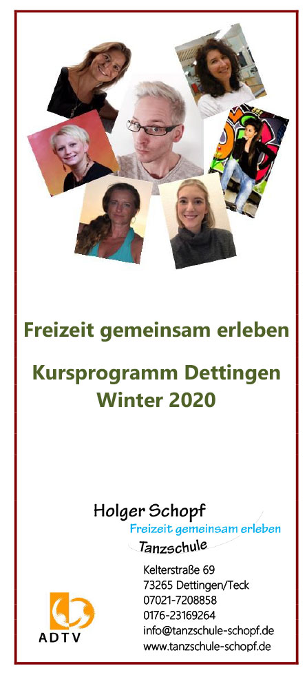 Kursprogramm Dettingen Winter