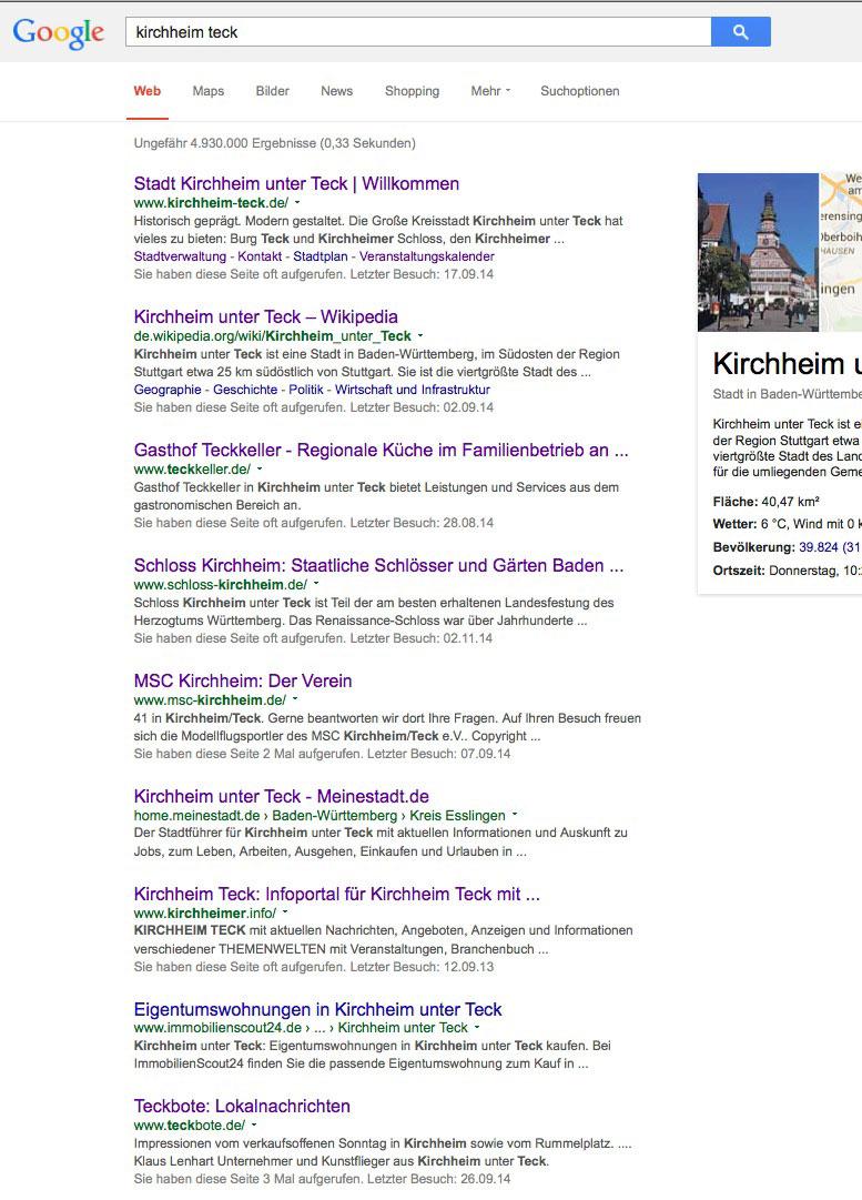 Das Kommerzielle Städteportal Für Kirchheim Teck